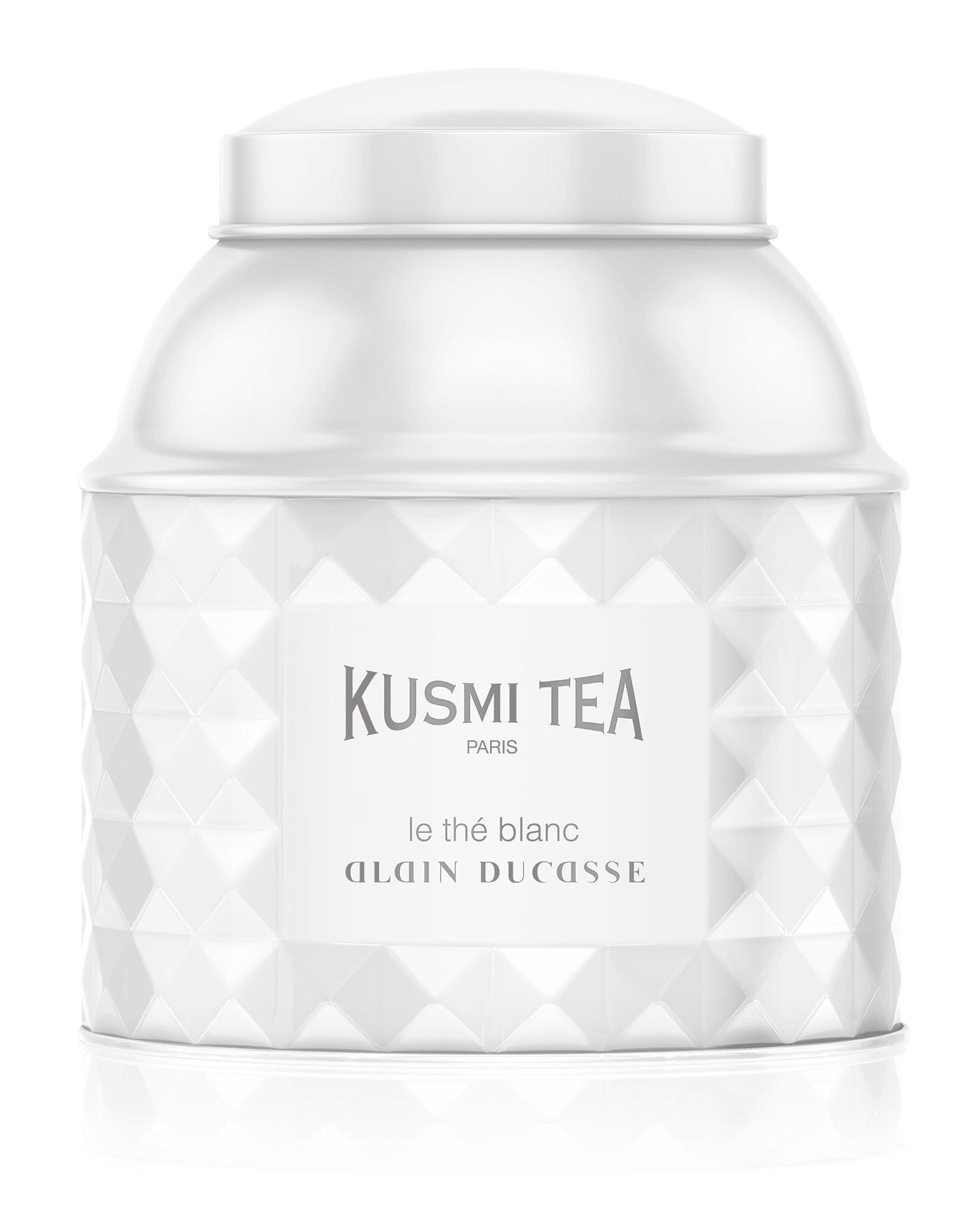 KUSMI TEA Le Thé Blanc Alain Ducasse - Thé blanc aromatisé framboise et rose - Kusmi Tea