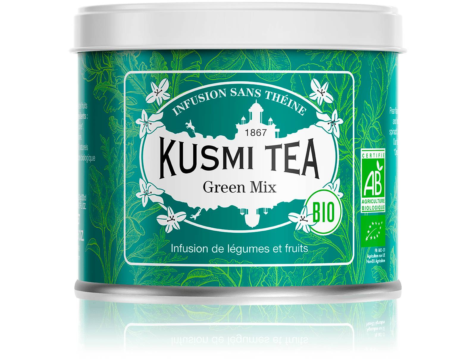 KUSMI TEA Green Mix Infusion bio - Légumes, fruits, poire Kusmi Tea
