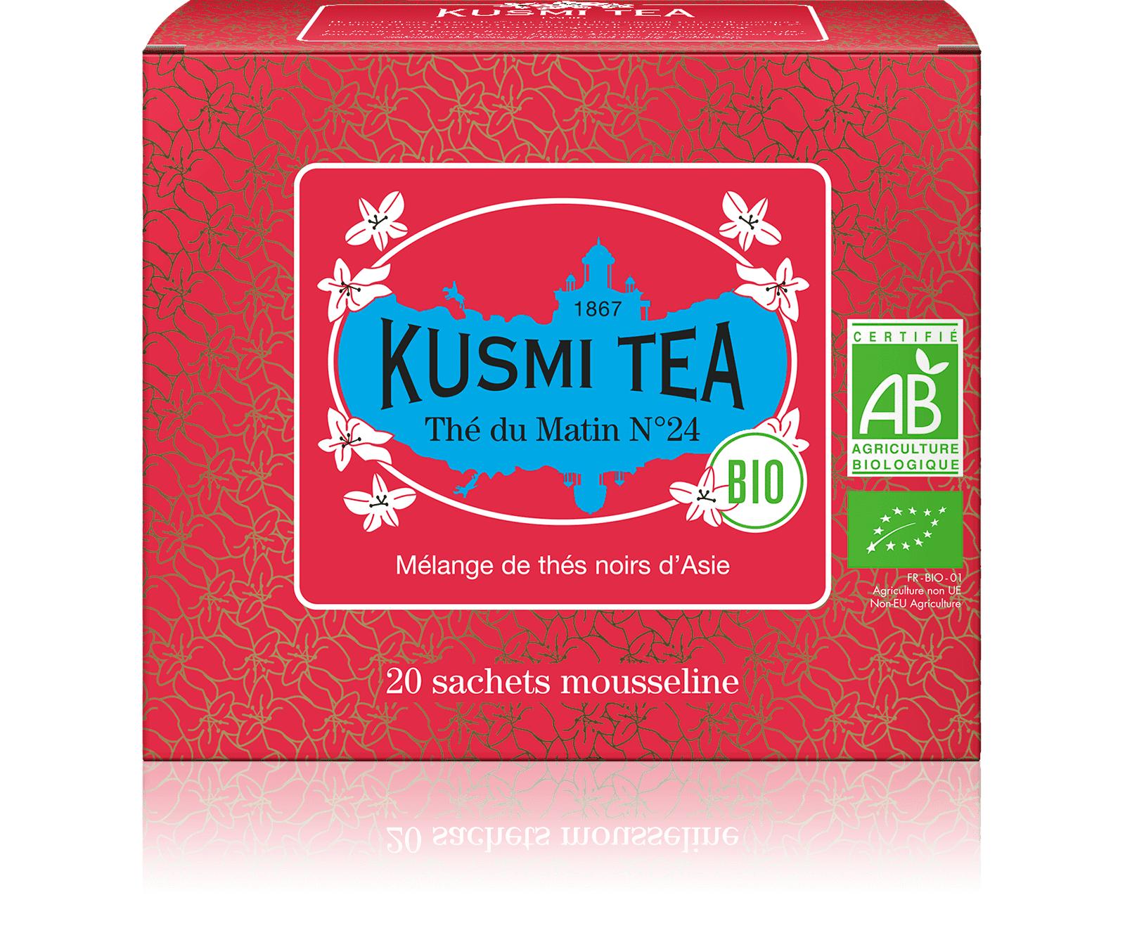 KUSMI TEA Thé du matin N°24 bio - Mélange de thés noirs d'Asie - Sachets de thé - Kusmi Tea