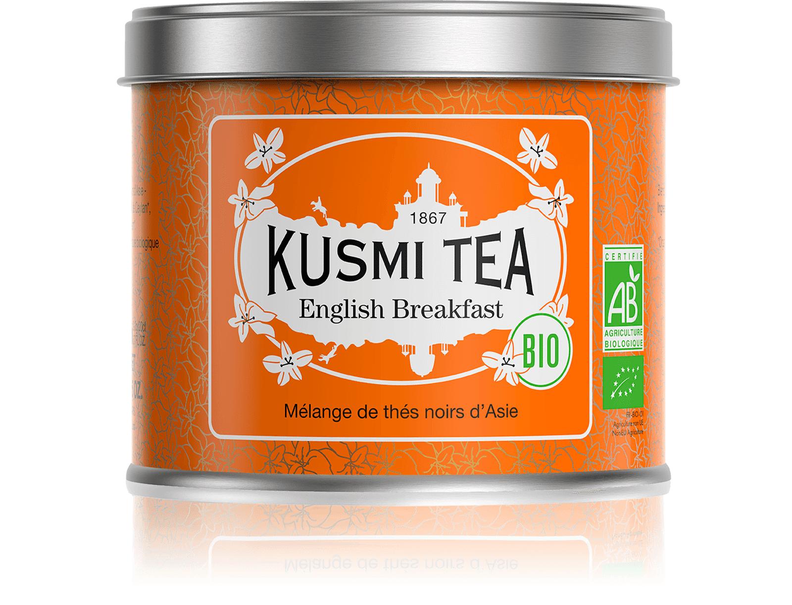 KUSMI TEA English Breakfast bio - Thé noir de Ceylan, Assam - Boîte de thé en vrac - Kusmi Tea