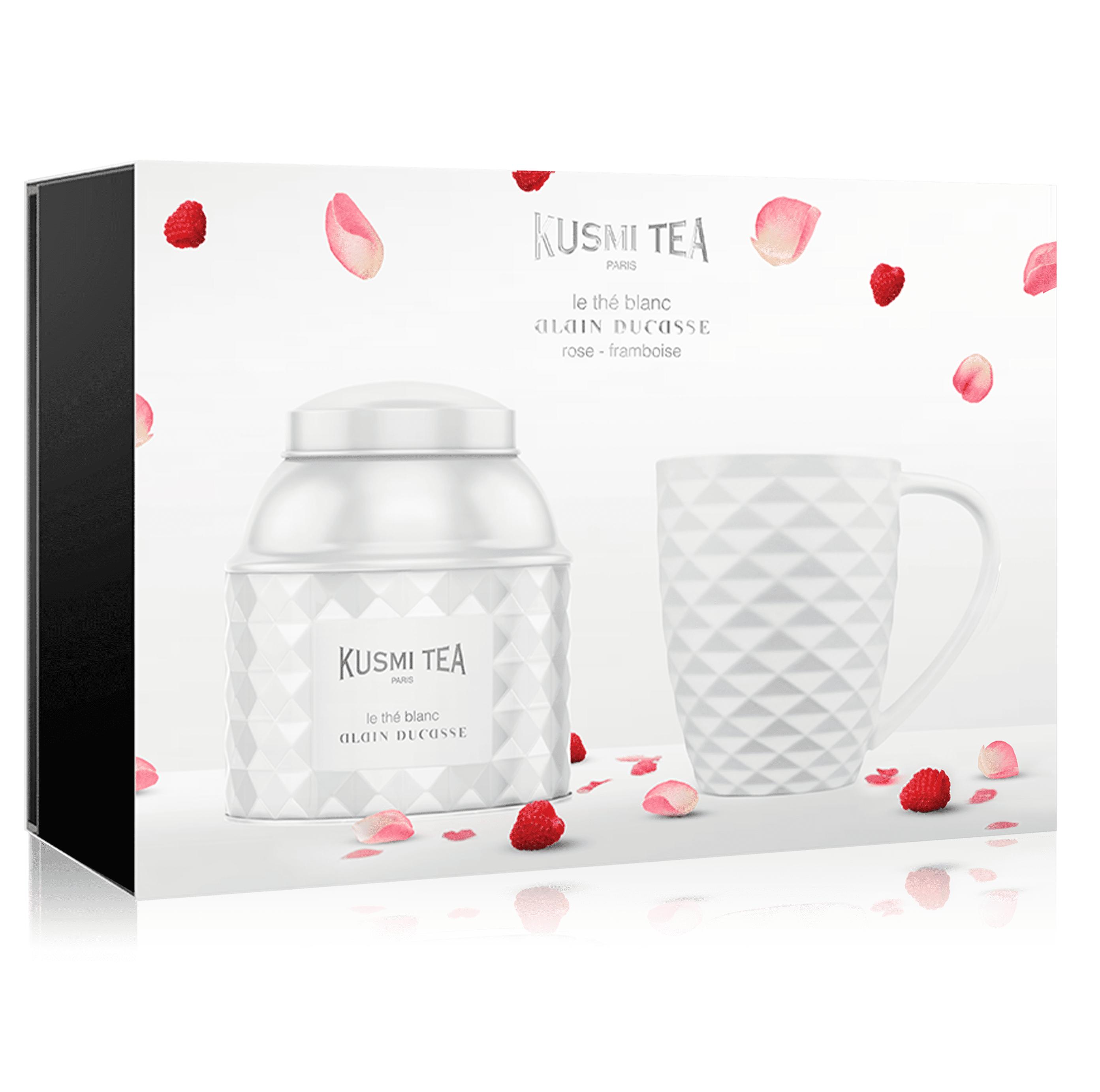 KUSMI TEA Coffret le thé blanc Alain Ducasse rose-framboise Kusmi Tea