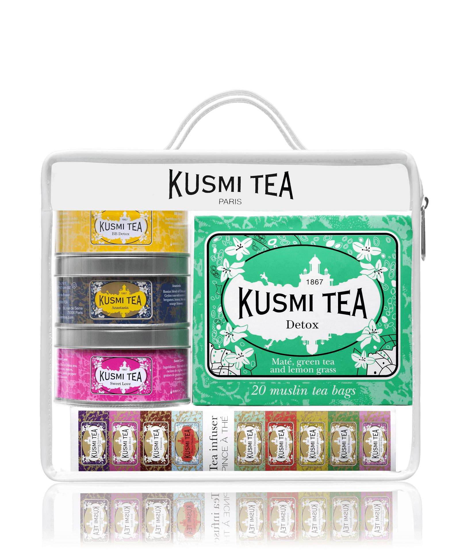 KUSMI TEA Coffret thés trousse de voyage