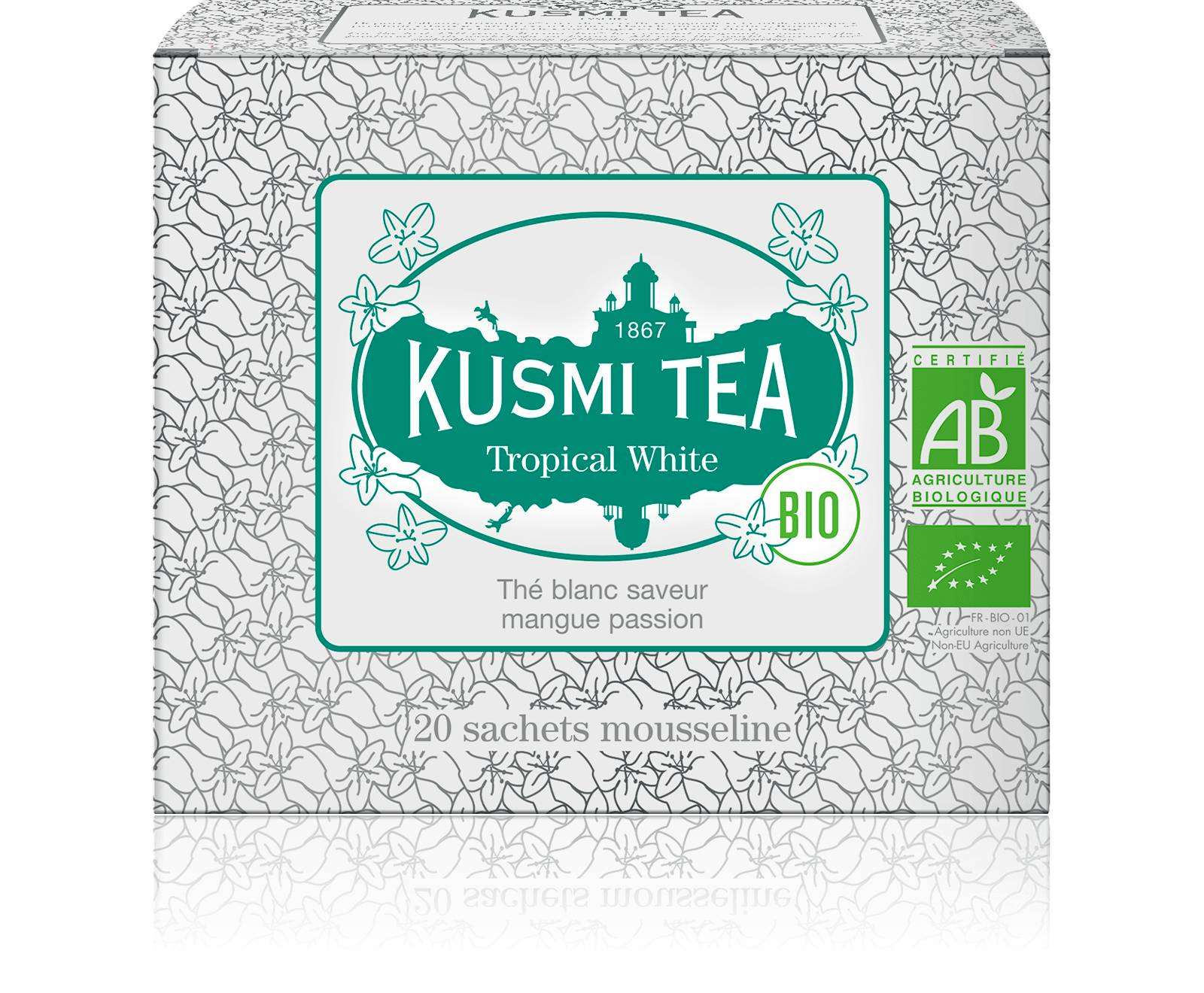 KUSMI TEA Tropical White bio - Thé blanc, mangue, passion - Sachets de thé - Kusmi Tea