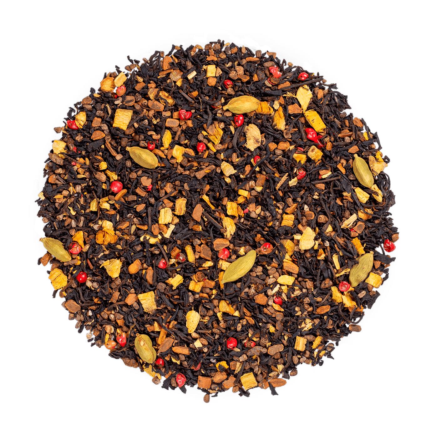 KUSMI TEA Sweet Love bio - Mélange aromatisé de thé noir, poivre rose, guarana et épices - Thé en vrac - Kusmi Tea