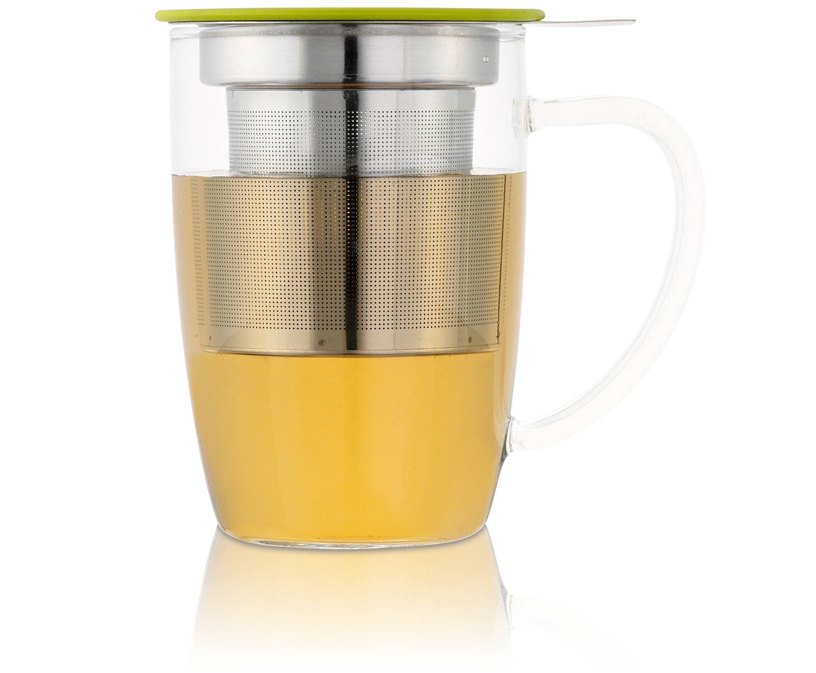 KUSMI TEA Tisanière NewLeaf 45Cl en verre avec filtre et couvercle Kusmi Tea