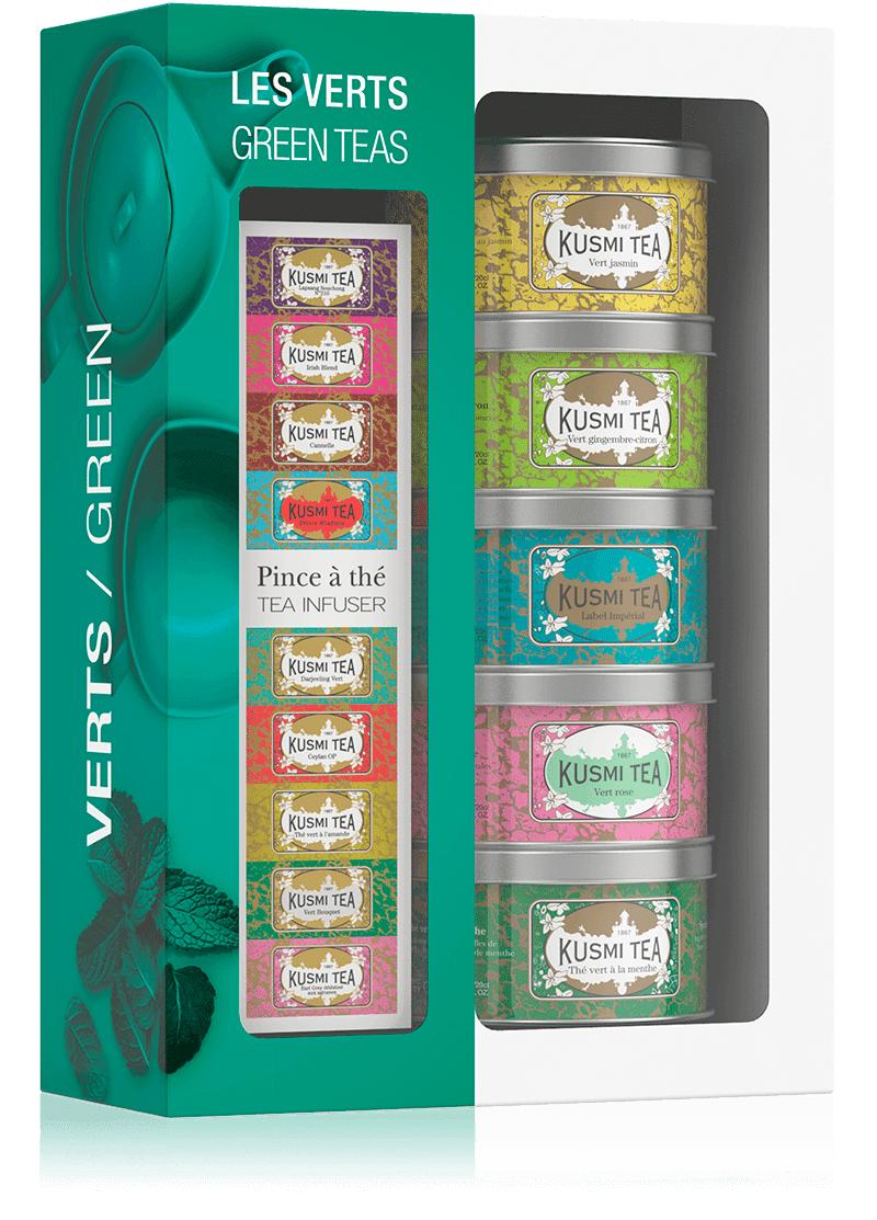 KUSMI TEA Coffret thés Les Verts
