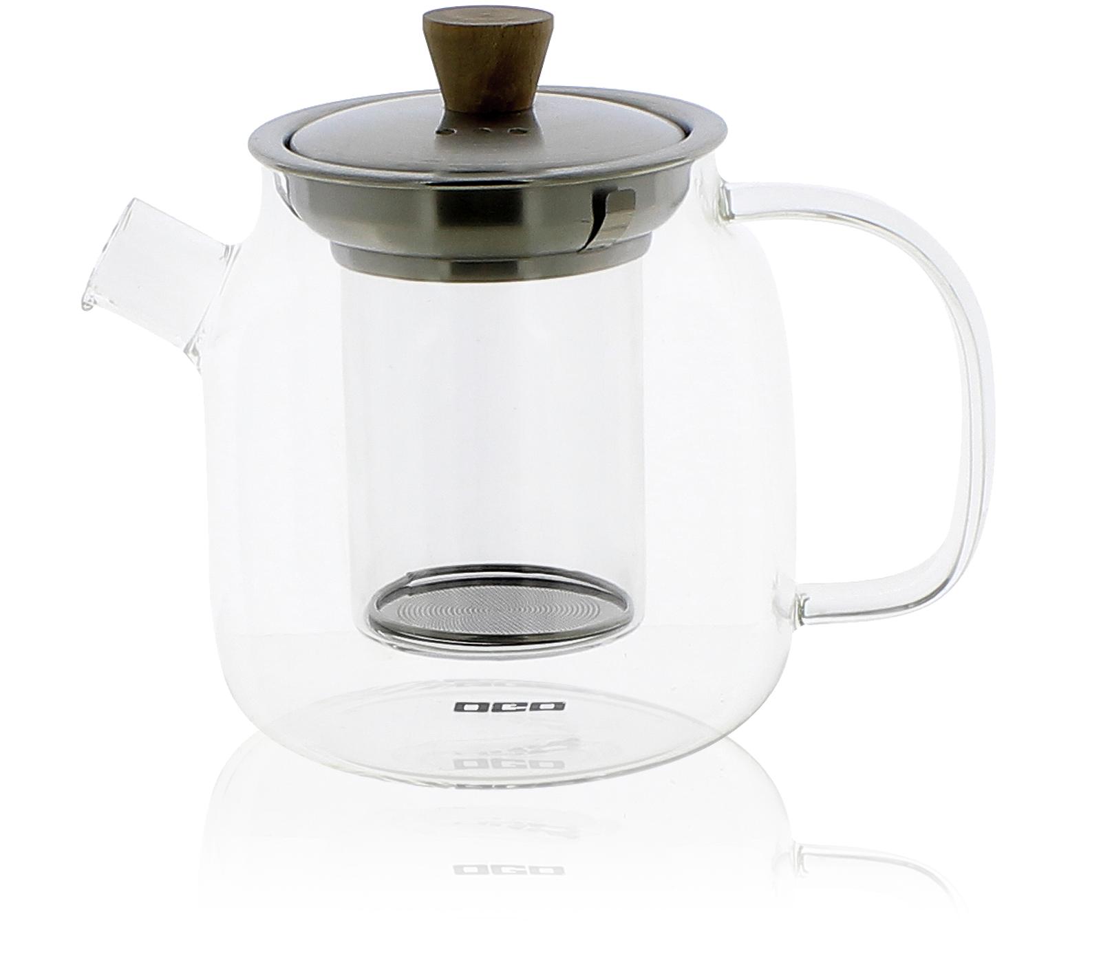 KUSMI TEA Théière en verre 0,70L couvercle inox et bambou avec filtre en verre Kusmi Tea