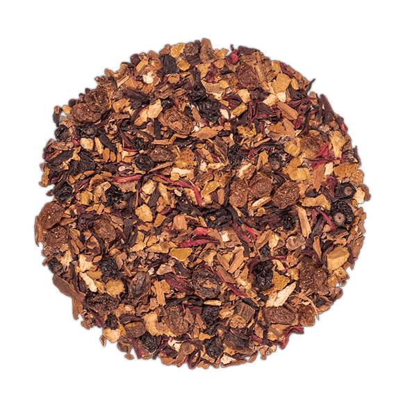 KUSMI TEA Glögg (Infusion bio) - Mélange aromatisé d'épices, de fruits et d'hibiscus - Thé en vrac - Kusmi Tea