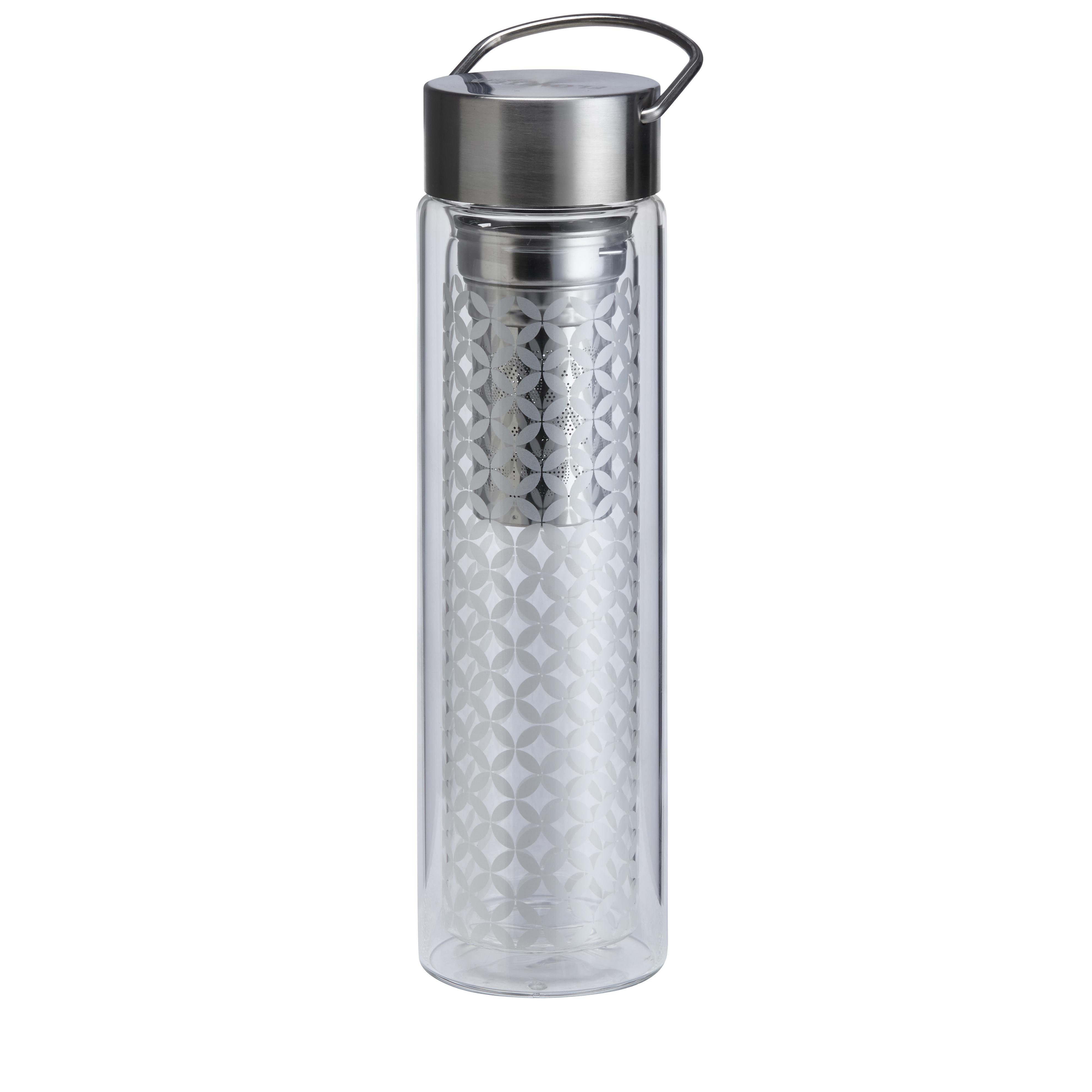 KUSMI TEA Théière nomade en verre 35Cl double paroi avec filtre Kusmi Tea