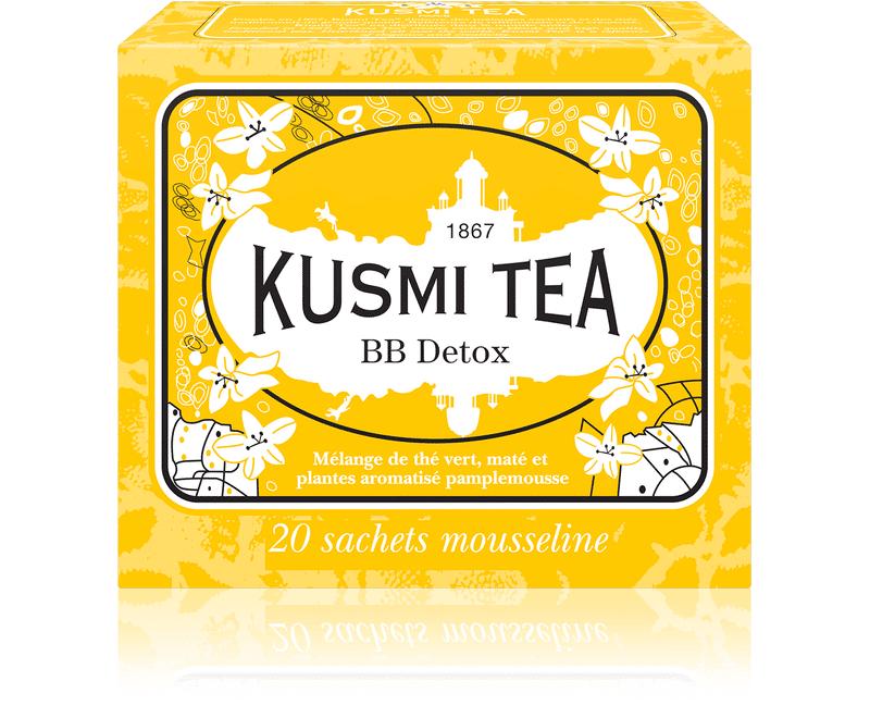KUSMI TEA BB Detox - Thé vert, maté, pamplemousse - Sachets de thé - Kusmi Tea