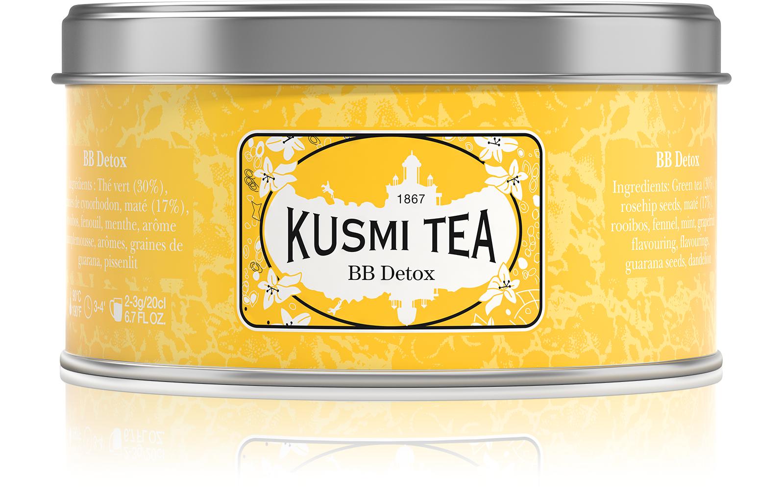 KUSMI TEA BB Detox Thé vert et Maté  Kusmi Tea