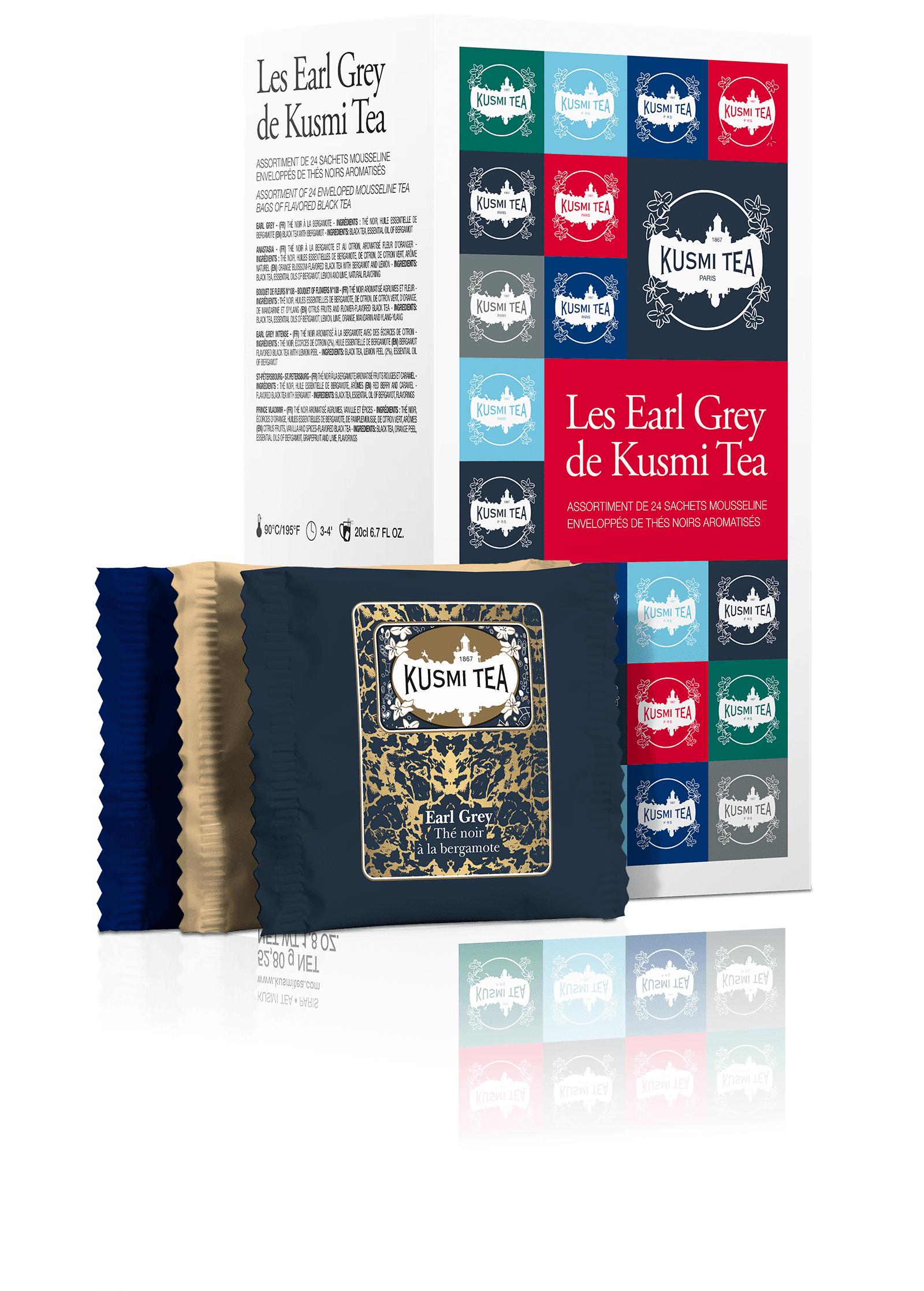 KUSMI TEA Coffret de thés Les Earl Grey  Thé noir  Kusmi Tea