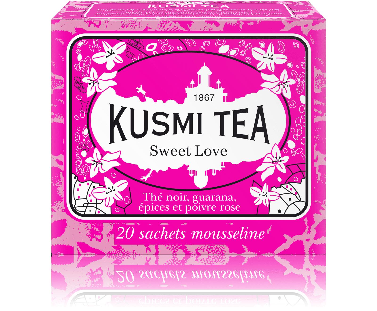 KUSMI TEA Sweet Love - Thé noir, épices - Sachets de thé - Kusmi Tea