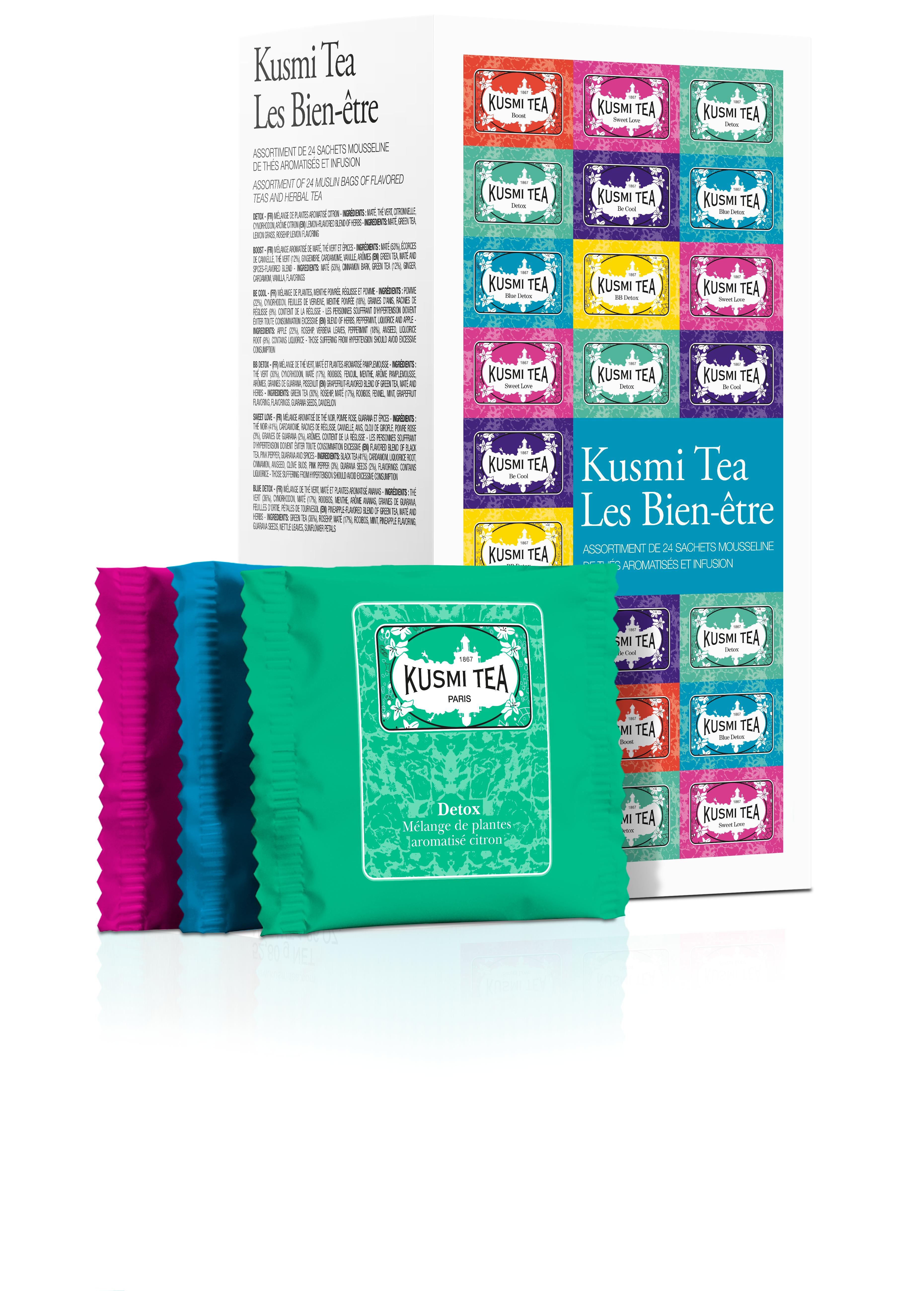 KUSMI TEA Coffret de thé en sachet Les Bien-être Thé vert  Kusmi Tea