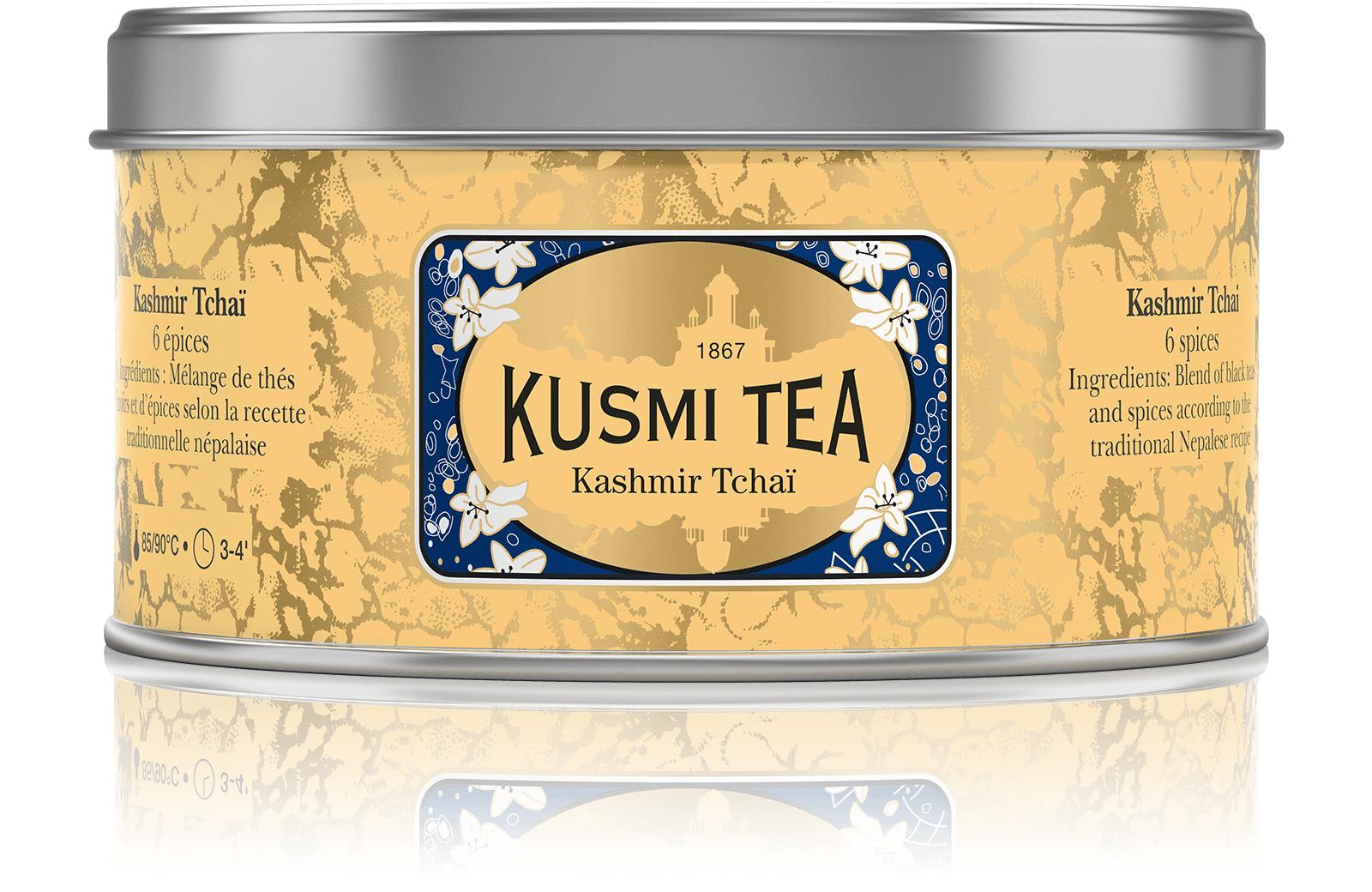 KUSMI TEA Kashmir Tchaï - Thé noir aux épices - Boîte de thé en vrac - Kusmi Tea