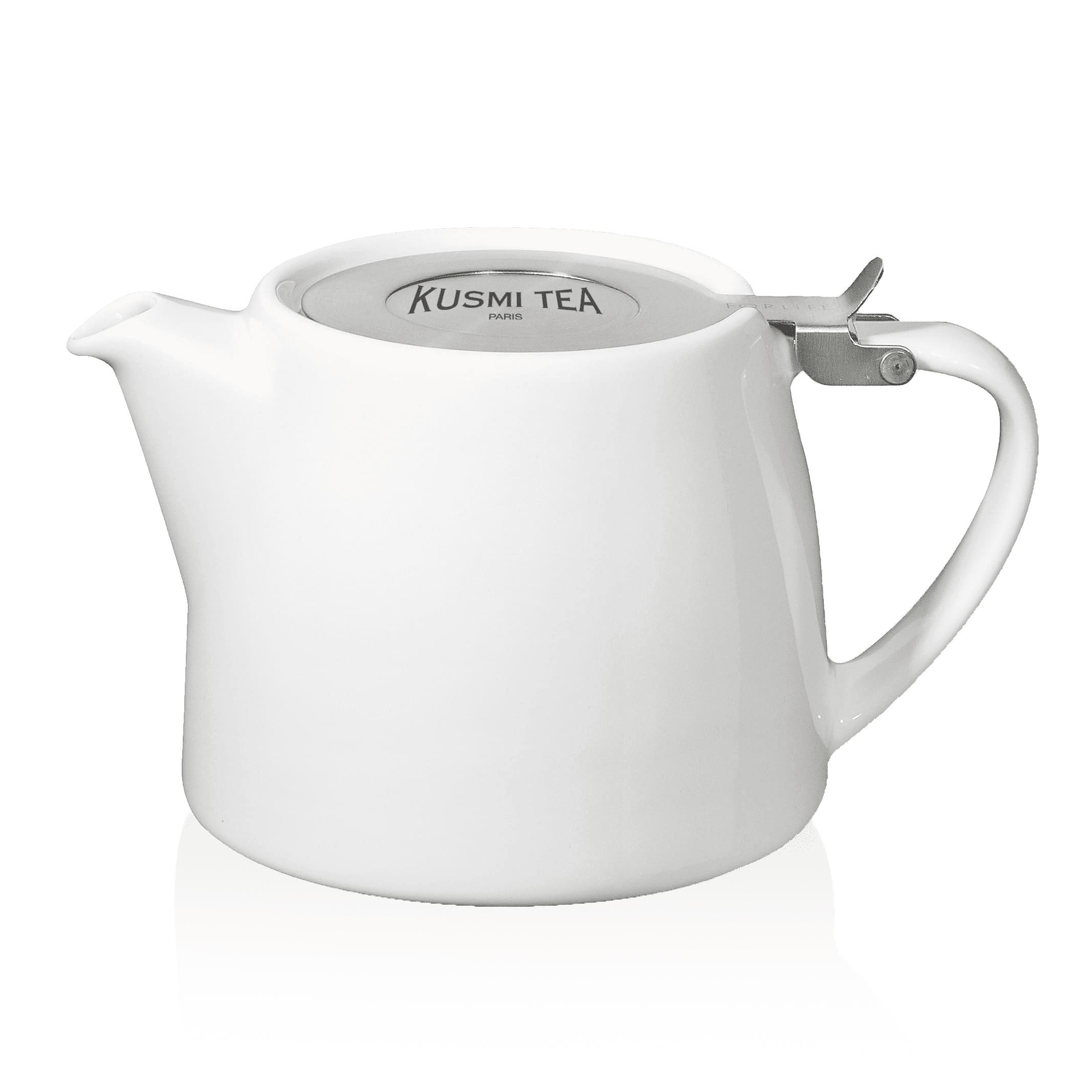 KUSMI TEA Théière Stump Kusmi 0,40L - THÉIÈRE EN PORCELAINE STUMP KUSMI 0,40L (SANS FILTRE) - Kusmi Tea