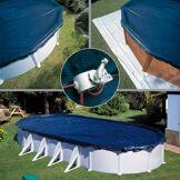 Gré Bâche d'hivernage pour piscine acier Gré Dimension - Ovale 11,15x6,60m (pour piscine de 10,00x5,50m)