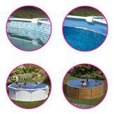 Gré Liner pour piscine acier Gré ronde Dimension - 3,50 x h1,32m, Coloris - Bleu grésite