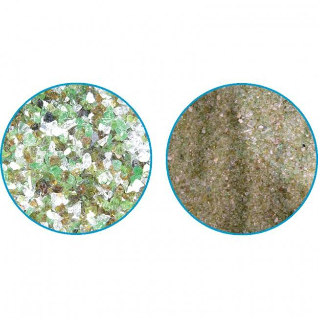 Azialo Verre de filtration Quantité - Sac de 25kg grade 1 (0,4-1,6mm)