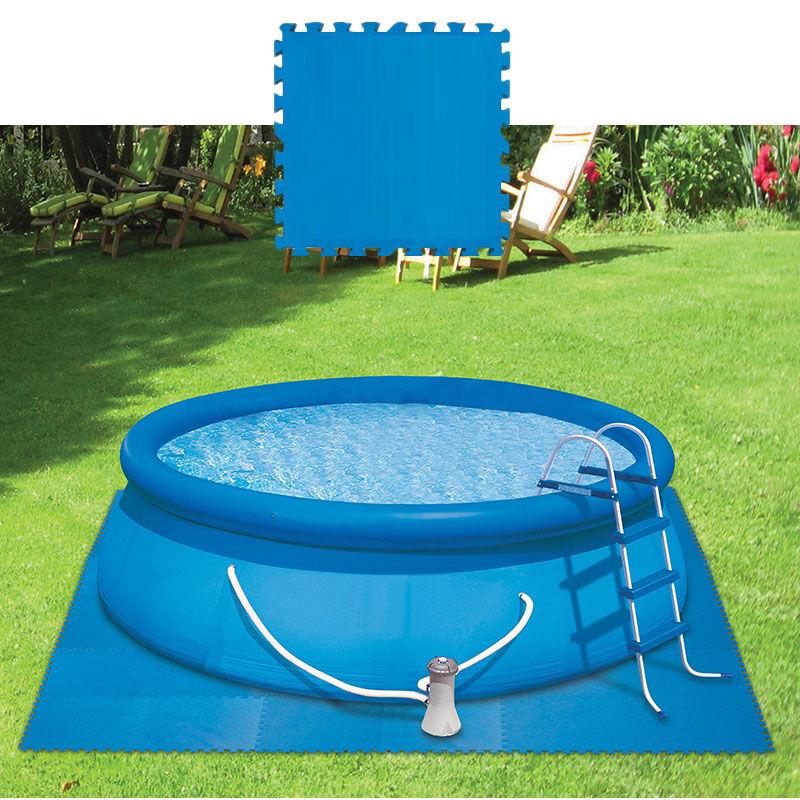 Kokido Dalle de protection de sol (lot de 9 pièces) Coloris - Bleu