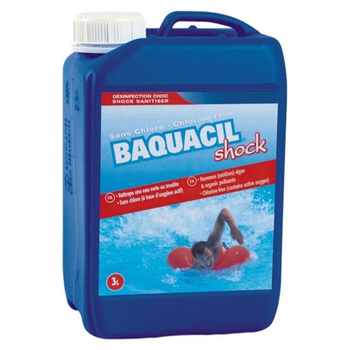 HTH Baquacil Shock - oxygène actif choc liquide Quantité - Bidon de 3 L