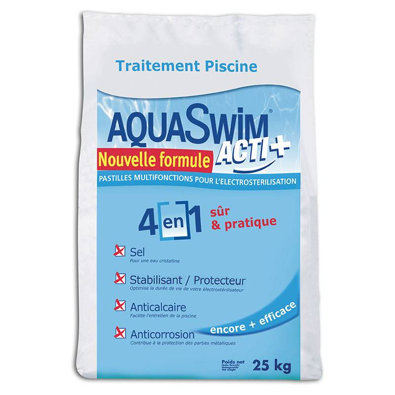 Salins Du Midi Sac de sel Aquaswim Acti plus - 25kg