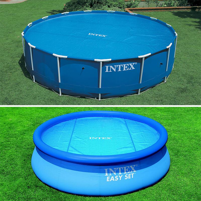 Intex Bâche à bulles pour piscine Intex ronde Modèle - Piscine diamètre 4,27m gris renforcé