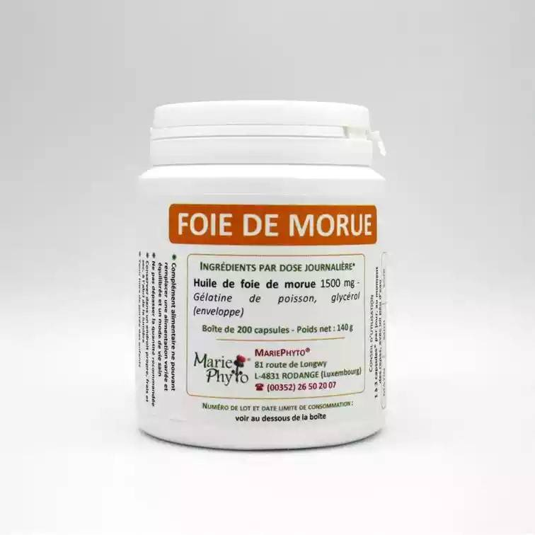 Marie Phyto Foie de morue 200 capsules