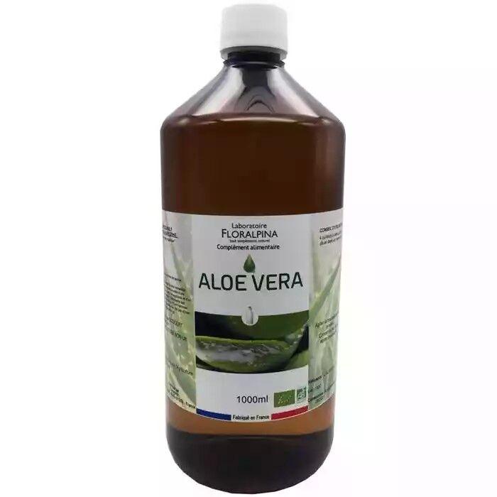 Laboratoire Floralpina Jus d'aloe vera 1l bio (100% de jus d'Aloe Vera)