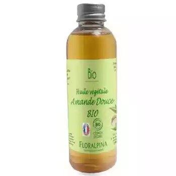 Floralpina Huile végétale d'amande douce BIO - 100 ml