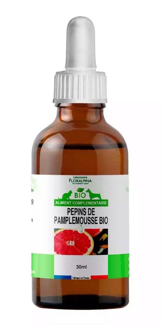 Laboratoire Floralpina Extrait de pépins de pamplemousse bio 30 mL pour chien et chat