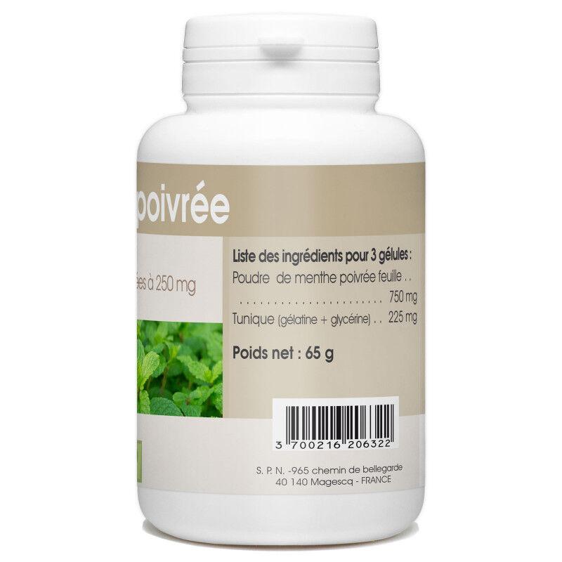 SPN Menthe Poivrée - 250 mg - 200 gélules