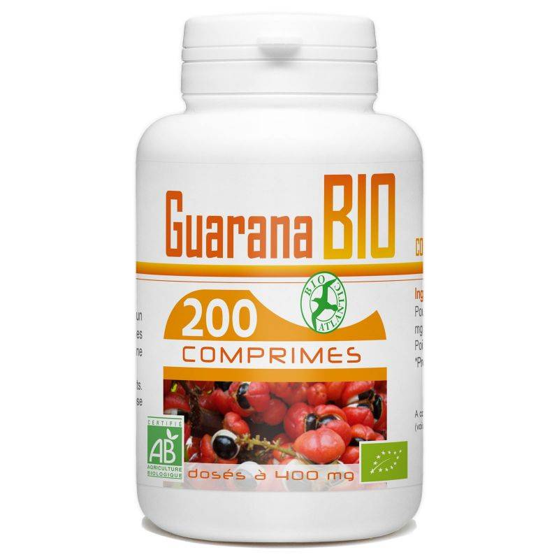 Bio Atlantic Guarana Bio - 400 mg - 200 comprimés