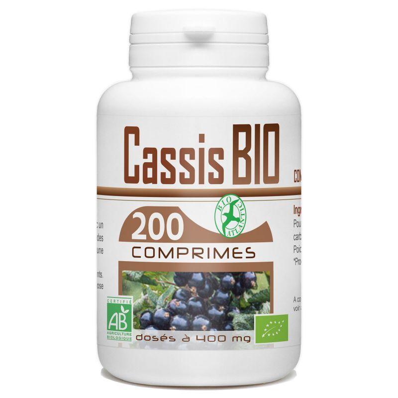 Bio Atlantic Cassis Biologique - 400 mg - 200 Comprimés