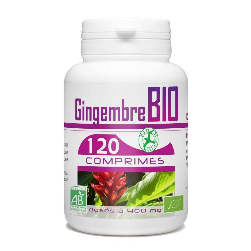 Bio Atlantic Gingembre Bio - 400 mg - 120 comprimés