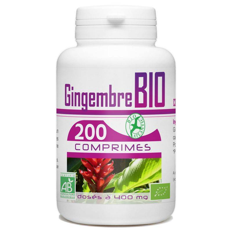 Bio Atlantic Gingembre Bio - 400 mg - 200 comprimés