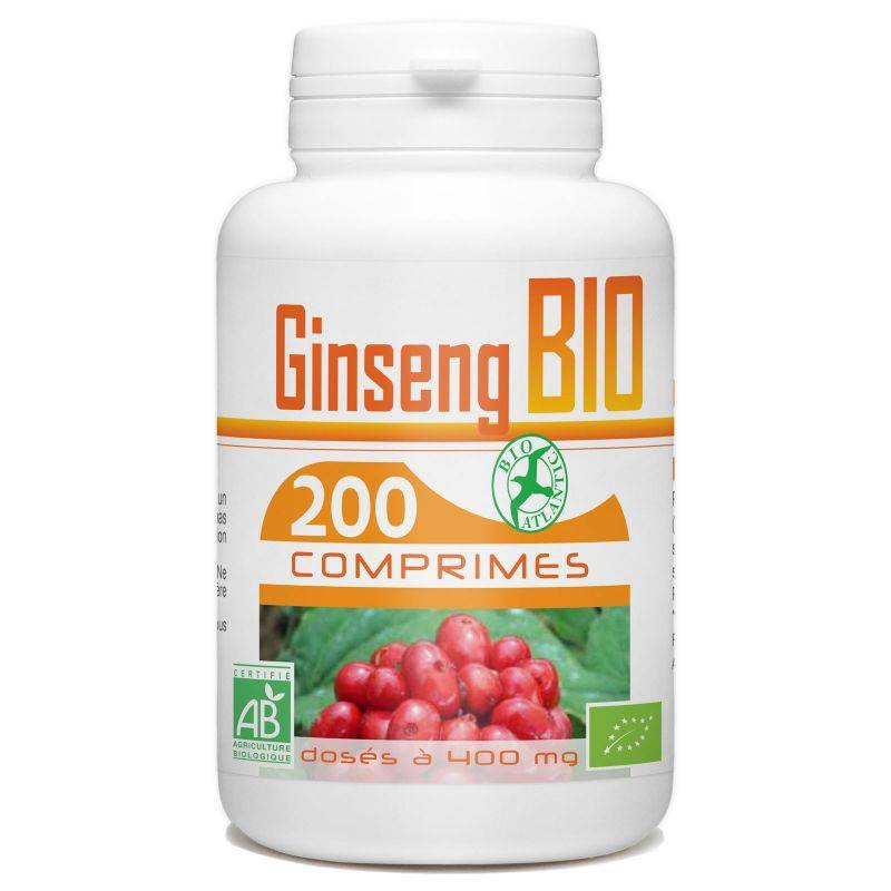 Bio Atlantic Ginseng Rouge bio - 400 mg - 200 comprimés