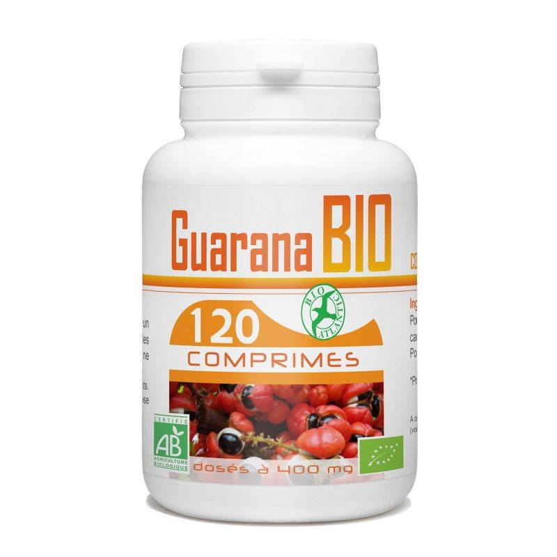 Bio Atlantic Guarana Bio -400 mg - 120 comprimés