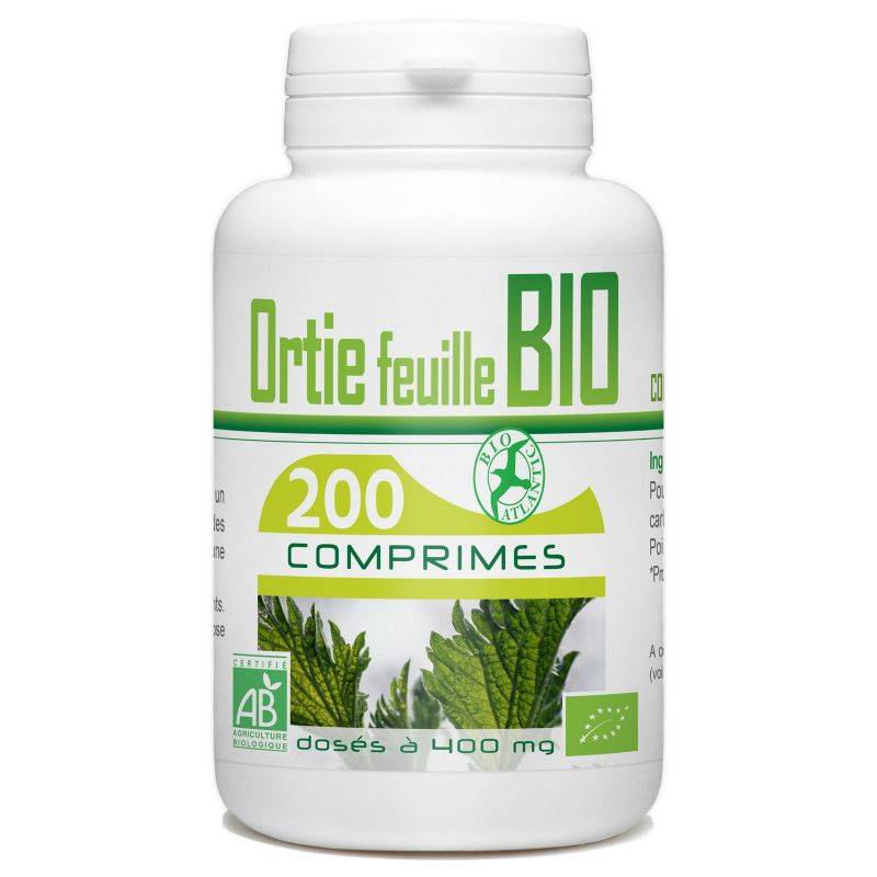 Bio Atlantic Ortie feuille Bio - 400 mg - 200 comprimés