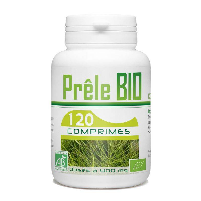 Bio Atlantic Prêle biologique- 400 mg - 120 comprimés