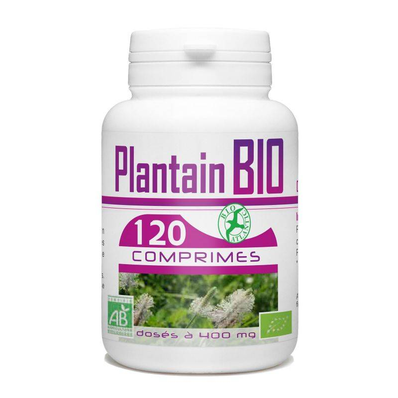 Bio Atlantic Plantain Bio - 400 mg - 120 comprimés