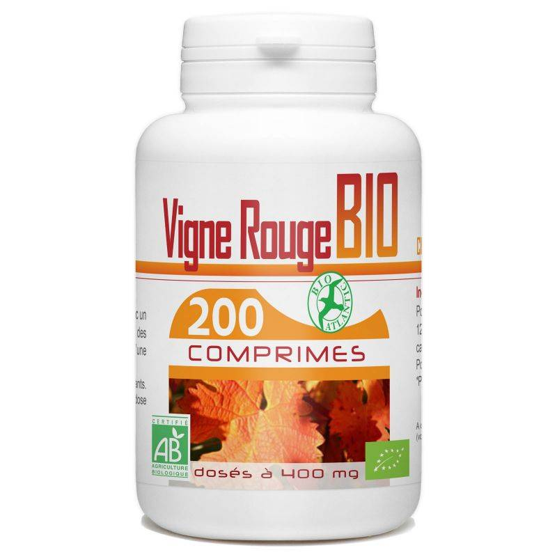 Bio Atlantic Vigne Rouge Bio - 400 mg - 200 comprimés