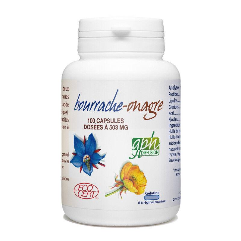 GPH Diffusion Bourrache Onagre Ecocert - 503 mg - 100 capsules marines