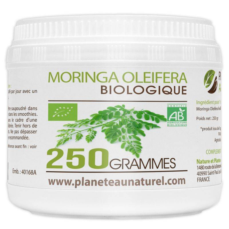Planète au Naturel Moringa Oleifera Bio - poudre 250 g