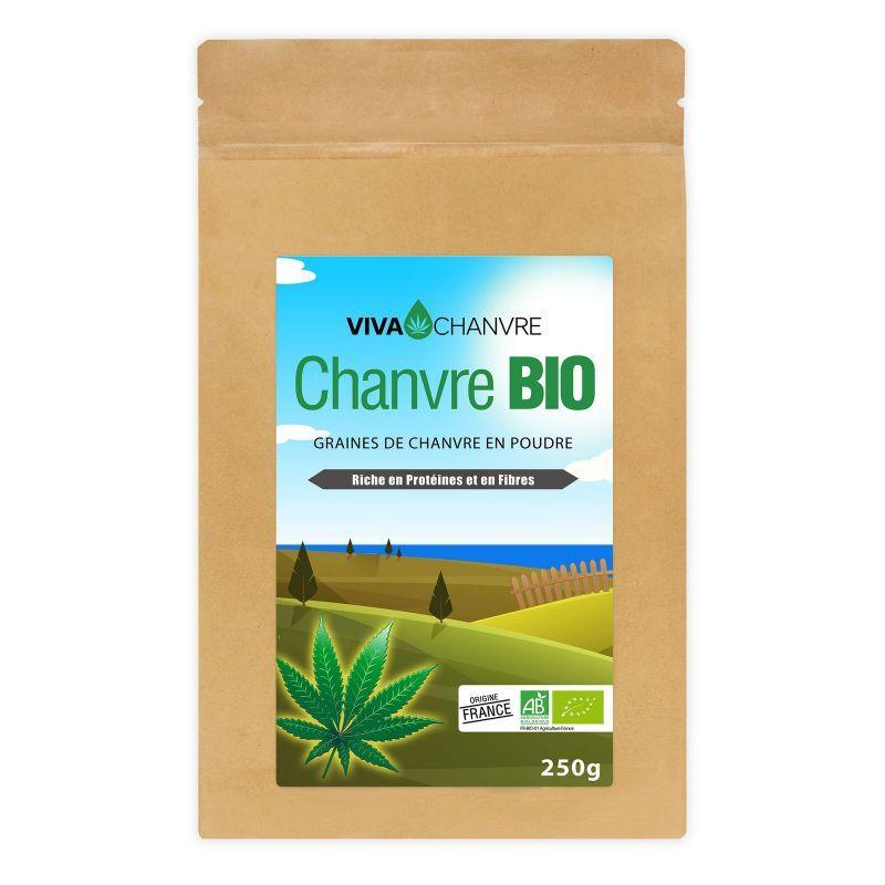 VivaChanvre Graines de Chanvre Bio en Poudre - 250 g
