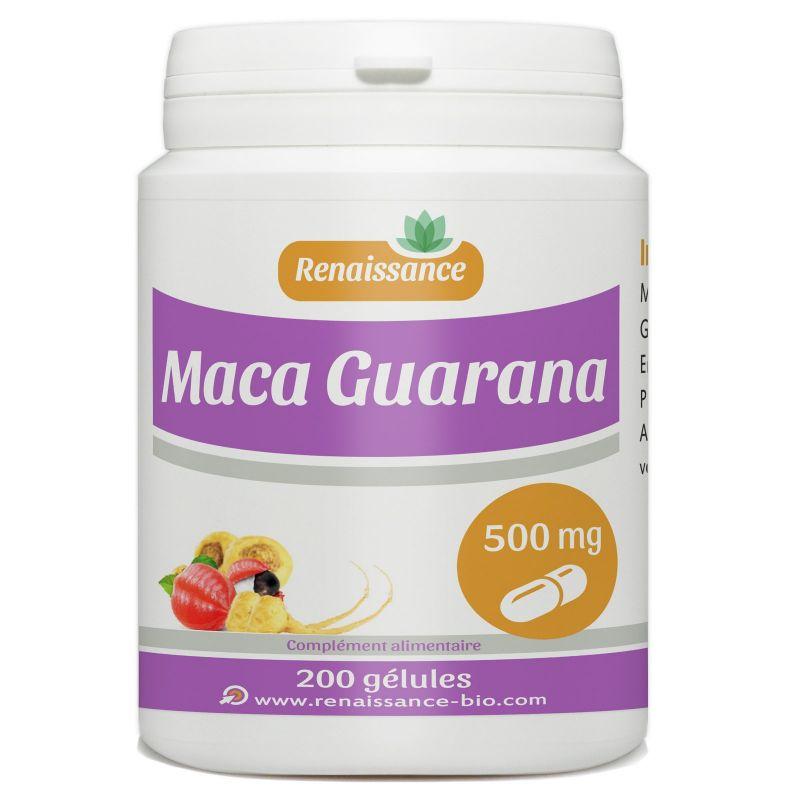 Renaissance Bio Maca Guarana - 500 mg - 200 gélules