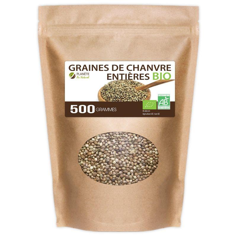 Planète au Naturel Graines de Chanvre Entières Bio - 500 g