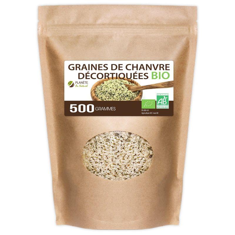 Planète au Naturel Graines de Chanvre Décortiquées Bio - 500 g