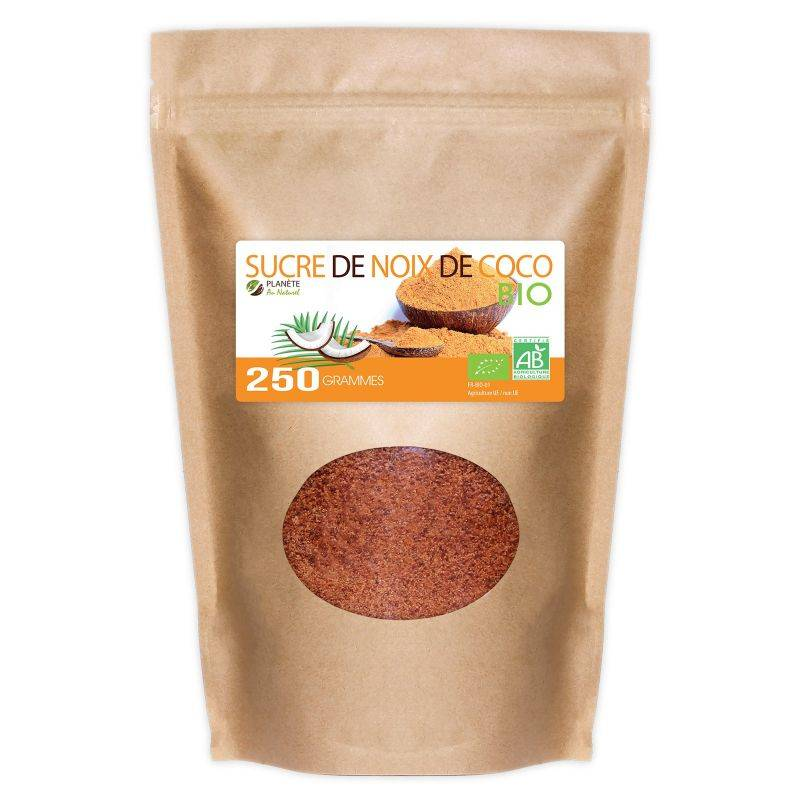Planète au Naturel Sucre de Noix de Coco Bio - 250 g