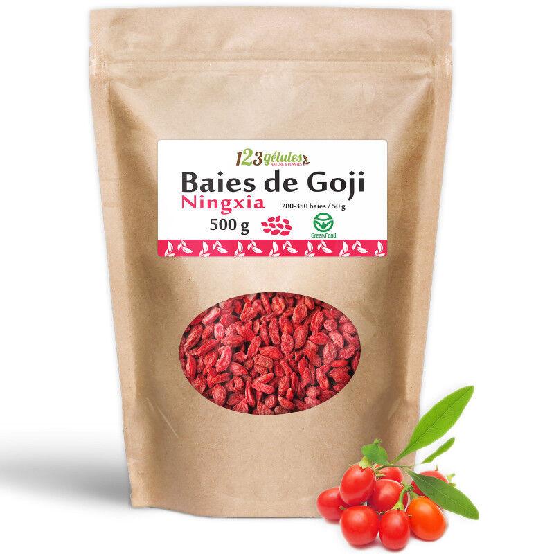 123gelules Baies de Goji (Ningxia) GreenFood - Sachet de 500 g